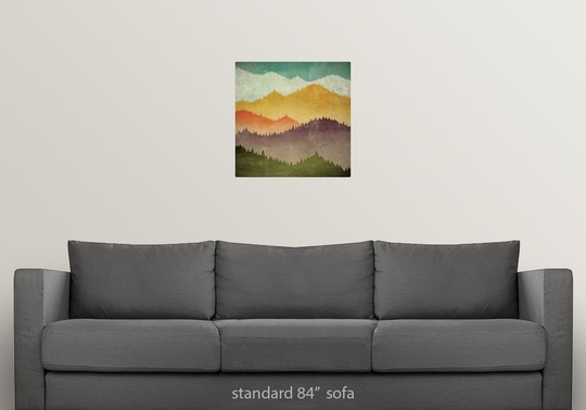 Poster Print Wall Art Entitled Mountain View Ebay