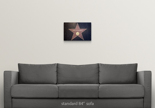 Solid-Faced-Canvas-Print-Wall-Art-entitled-Marilyn-Monroe-039-s-star-on-the thumbnail 10