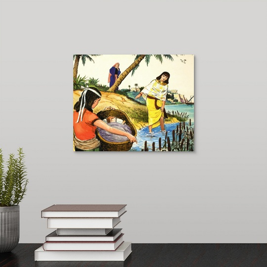 """Moses' Discovery In The Nile River"" Canvas Art Print"