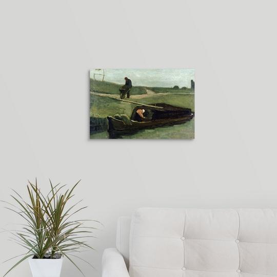 034-The-Peat-Boat-1883-034-Canvas-Art-Print thumbnail 8