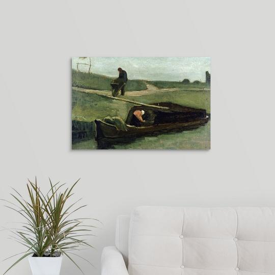 034-The-Peat-Boat-1883-034-Canvas-Art-Print thumbnail 11