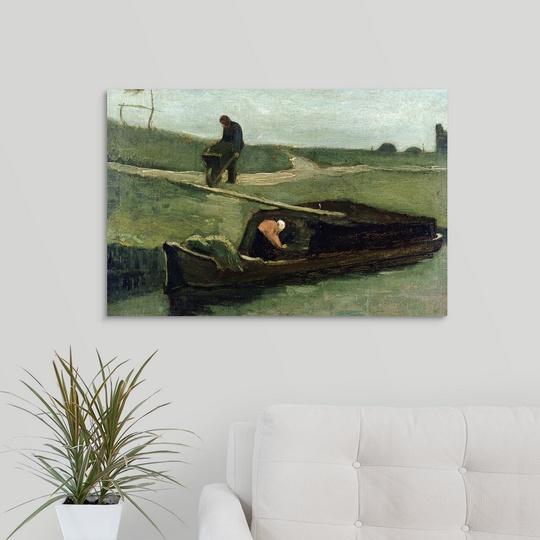 034-The-Peat-Boat-1883-034-Canvas-Art-Print thumbnail 10