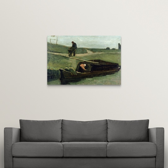 034-The-Peat-Boat-1883-034-Canvas-Art-Print thumbnail 9