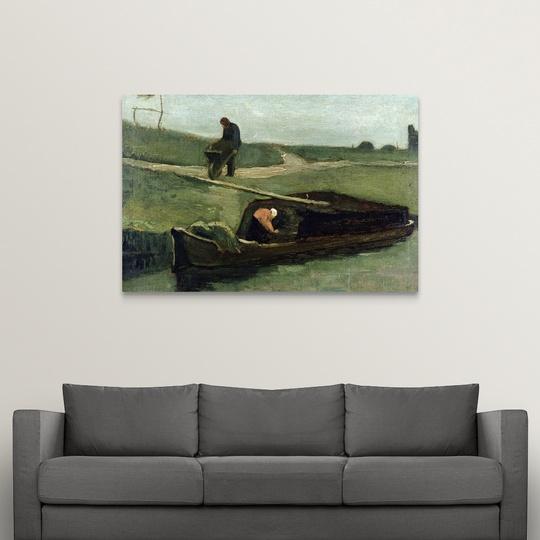 034-The-Peat-Boat-1883-034-Canvas-Art-Print thumbnail 7